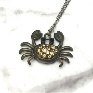 Cancer Crab Chrome Necklace